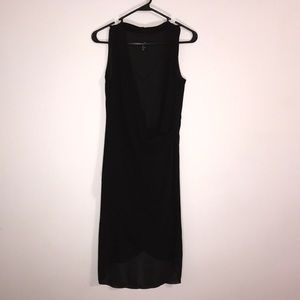 Black asymmetric H&M dress. Size 2